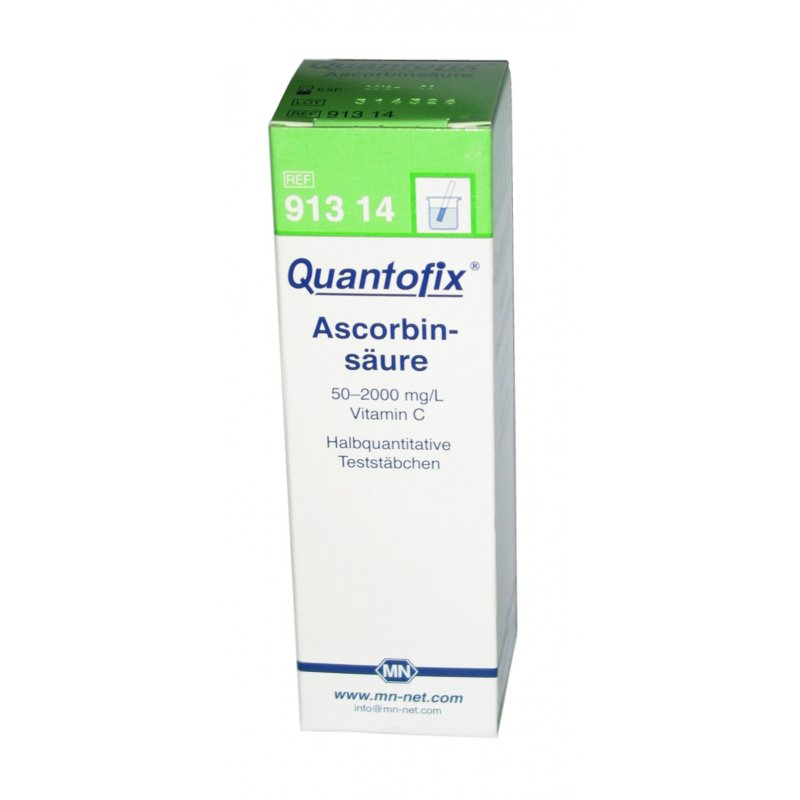 quantofix ascorbins ure 0 2000 mg l 100 testst bchen dose. Black Bedroom Furniture Sets. Home Design Ideas
